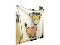 Baby Giraffe Cross Stitch PDF Pattern, C2C crochet Graph, Instant Download,  No.018