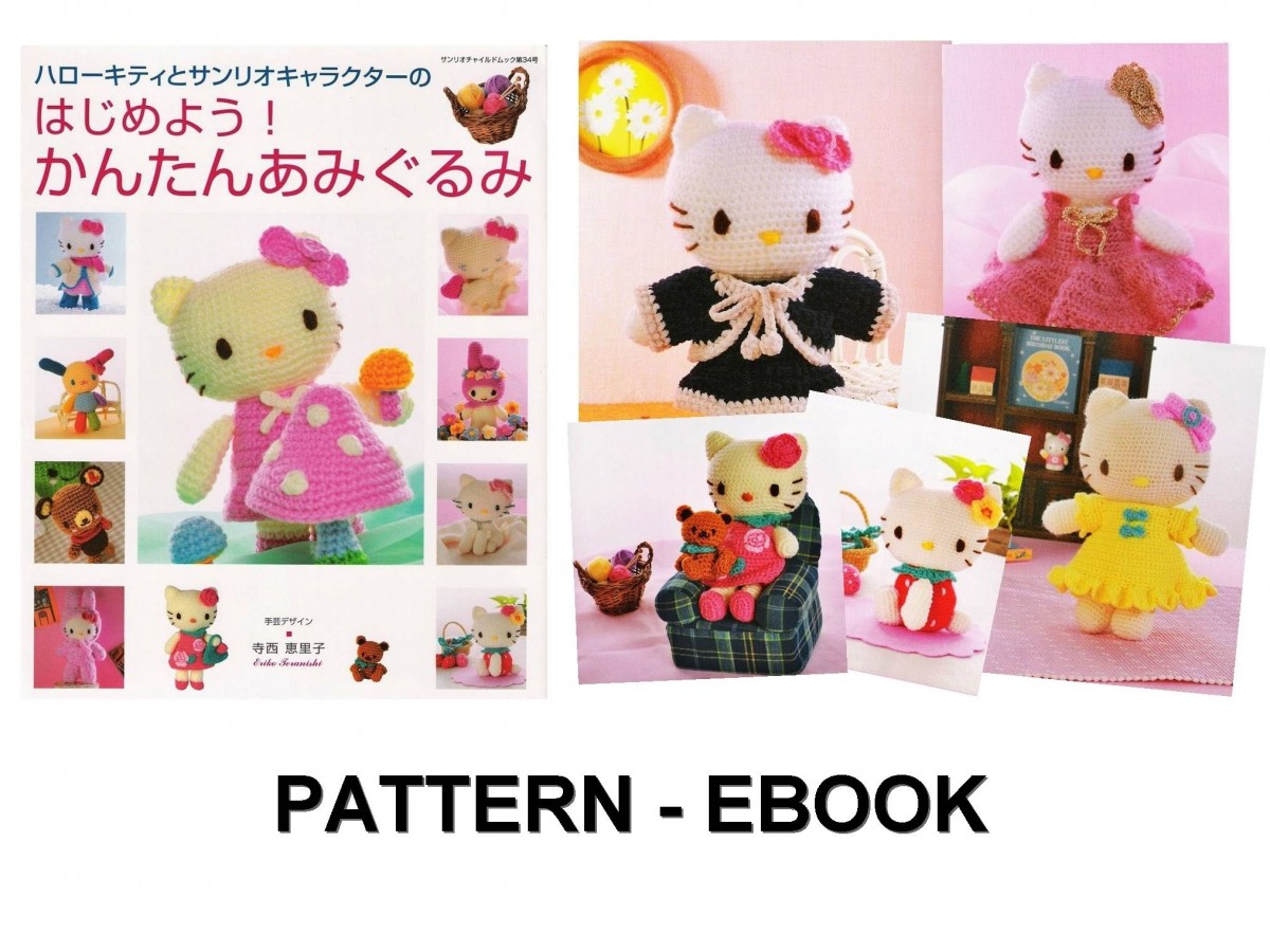 Hello Kitty Pdf Crochet Pattern Japanese Ebookhello Kitty