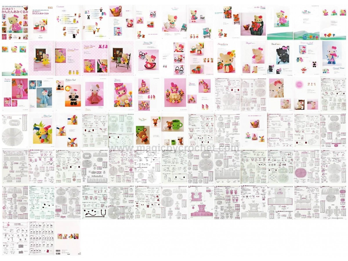 Hello Kitty Pdf Crochet Pattern Japanese Ebook Hello