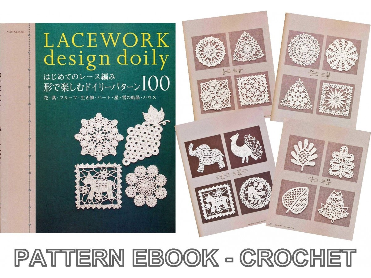 Lacework Doily Pdf Crochet Pattern Japanese Ebook No022