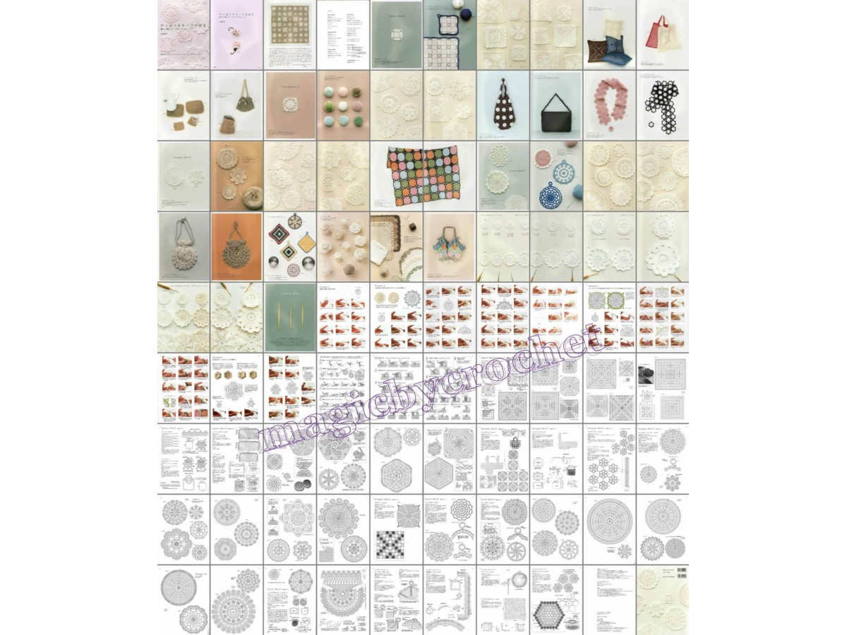 PDF crochet pattern, Japanese eBook, Crochet motif, No.030