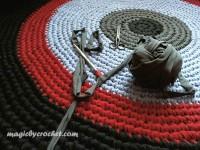 Round rug -  Rag rug- Nursery rug -Handmade rug- Home decor - 5 ft Round carpet, no.002