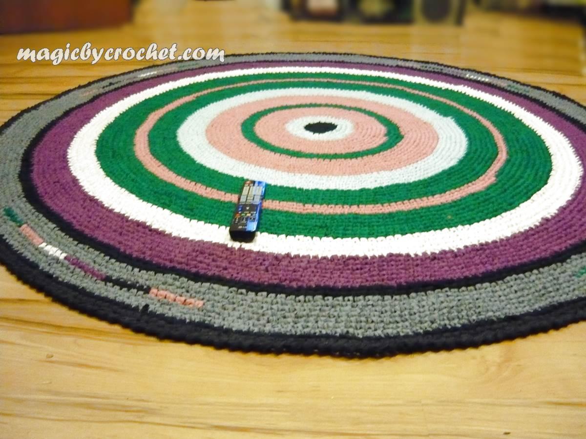 Crochet Rug Large Round Rag Nursery Area 210 Cm Handmade No 003