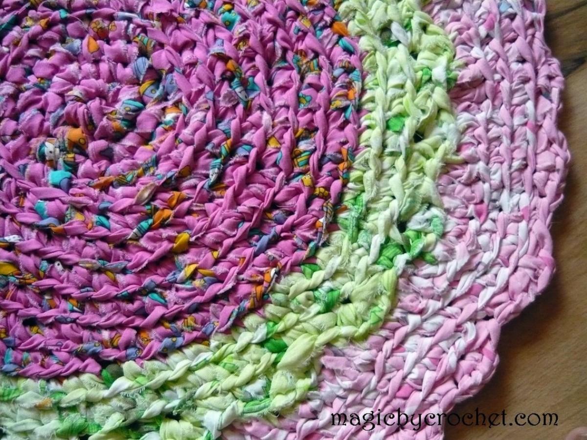 Crochet Rug, Round Rag Rug, Bright colors, BathMat, Cotton Carpet, Cake rug