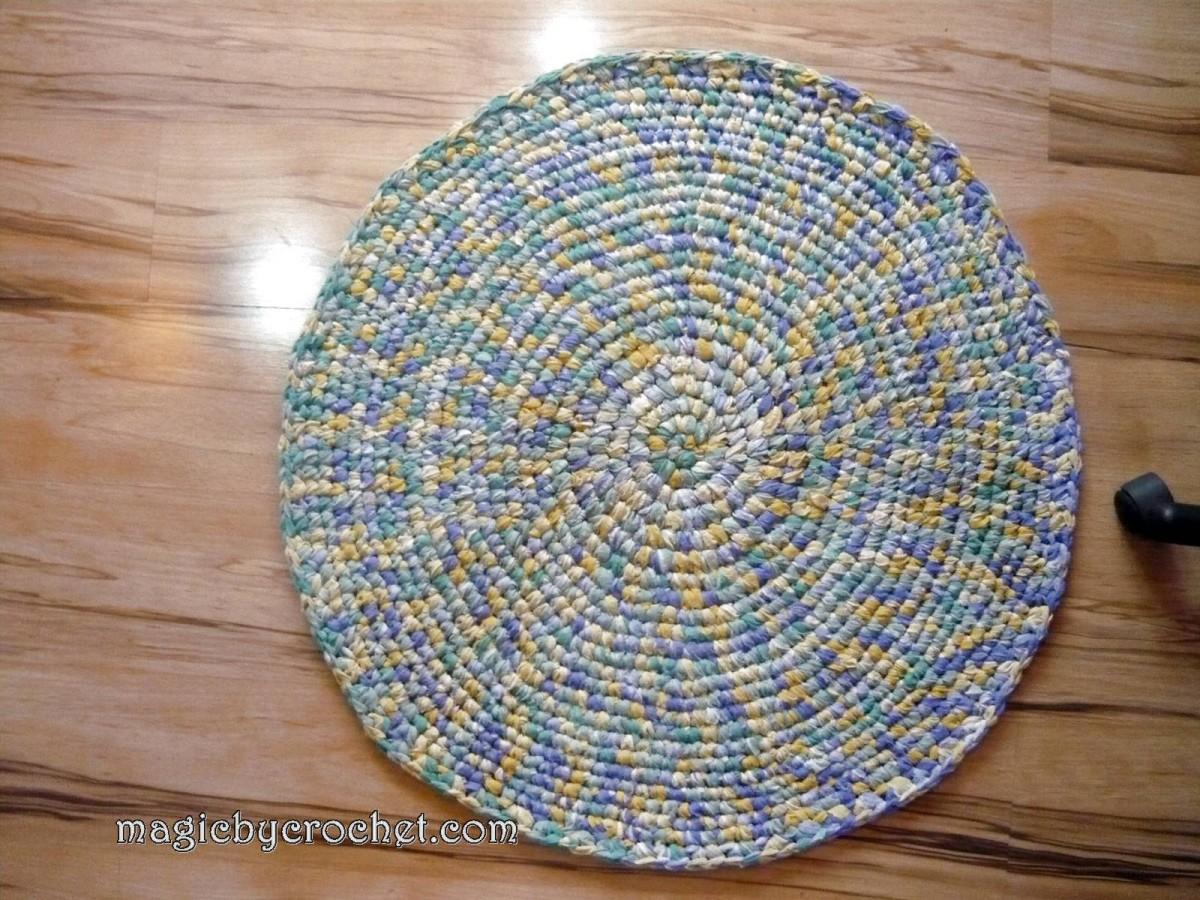 FLASH SALE | Rag Rug/Crochet Rug /Round Rug 81 cm /Bathroom rug, Ready to ship, 006