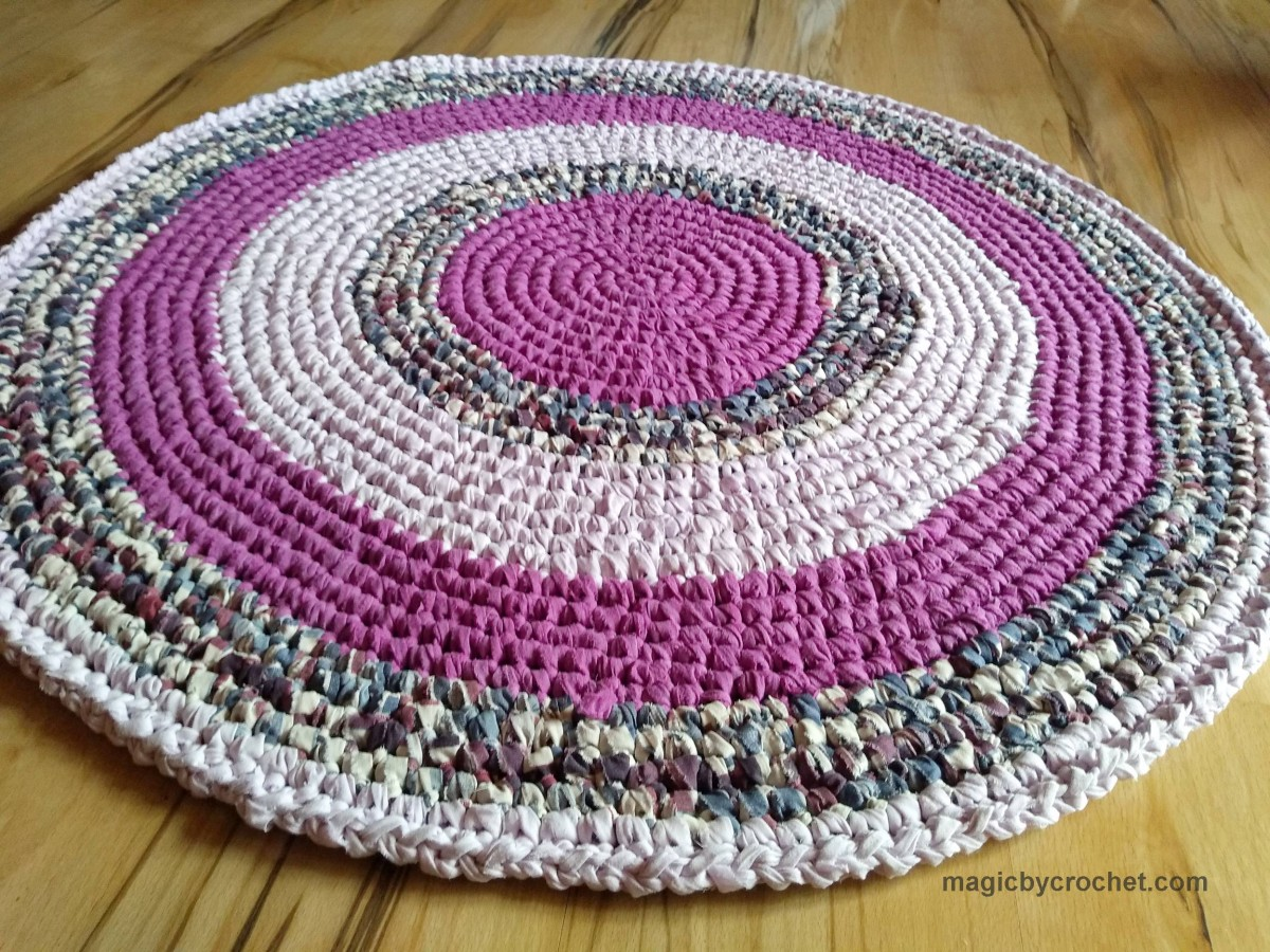 Ready to ship, Play rug, Rag rug, 39 inches, Crochet Rug, Cotton rug, Nursery rug