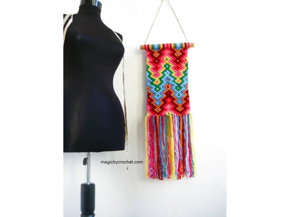 Macrame wall hanging, Colorful macrame, Boho wall decor, Handmade, Custom, One of a kind, 001